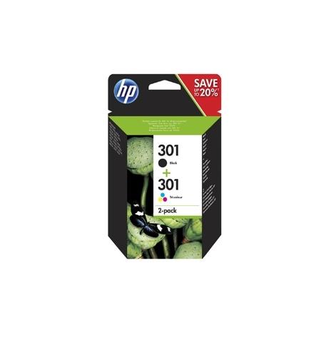 Tinteiro HP Nº301 MultiPack Preto+Cor