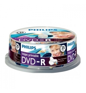 DVD-R Philips 4.7GB 16X Spindle Pack 25 Printable