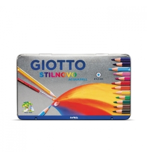 Lapis Cor 18cm Giotto Stilnovo Acquarell Cx Metal 12un
