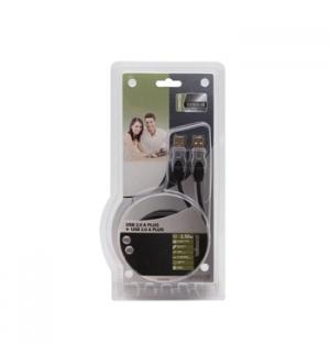 Cabo Profissional USB Macho / Macho - 2,5mts