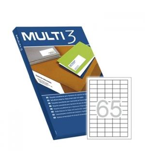Etiquetas 38x21,2 Multi3 100 Folhas A4 6500un