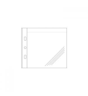 Bolsa para 1 CDs em PP c/Furacao Lateral Roma 393B Pack 50