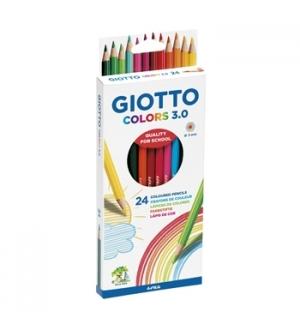 Lapis Cor 18cm Giotto Colors 3.0 Cx Cartao 24un