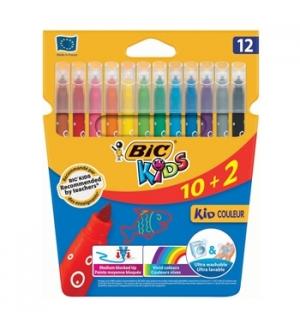 Marcador Feltro Bic Kids Couleur 12 Cores (10+2)