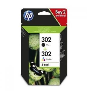 Pack 2 Tinteiros HP 302 Preto/Cor X4D37AE