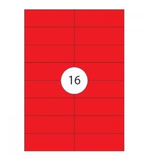 Etiquetas 105x37 Apli 20 Folhas 320un Vermelho