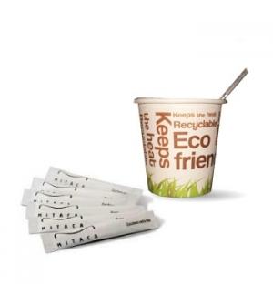 Kit Eco Friendly Copos Papel / Mexedor / Açucar 100un