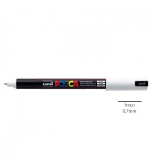 Marcador Uniball Posca PC1MR 0,7mm Branco-1un