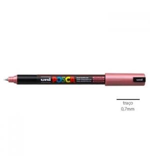 Marcador Uniball Posca PC1MR 0,7mm Vermelho Metalico-1un