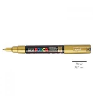 Marcador Uniball Posca PC1M 0,7mm Ouro -1un