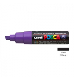 Marcador Uniball Posca PC-8K 8,0mm Violeta 1un