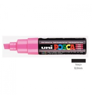 Marcador Uniball Posca PC8K 8,0mm Rosa -1un
