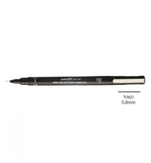 Marcador Uniball Calibrado PIN 0.8 Preto- 1un