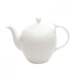 "Bule Branco Chá com Filtro ""Bone China"" 1,4L"