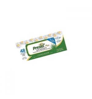 Toalhete Presto Plus Hipoalergénico 48 unidades