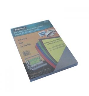Acetato Encadernacao A4 Opaco Cinza 180 microns PVC Cx 100un