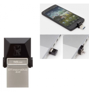 Pen Drive KINGSTON 16GB DataTraveler microDuo USB 3.0