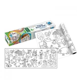 Rolo de Papel Adesivo para colorir 30cmx4mts Unisexo
