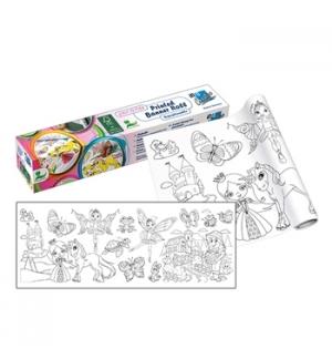 Rolo de Papel Adesivo para colorir 30cmx4mts Menina