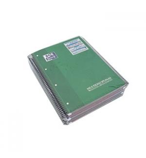 Caderno Espiral Oxford Plastico 3 Separadores A4 Quadr,120 F