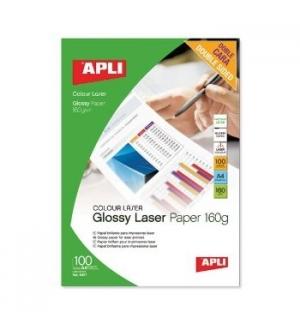 Papel fotografico brilhante Laser A4 160gr 100 Folhas