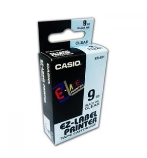 Fita para Gravacao para etiquetadora 9mm transparente/Preto