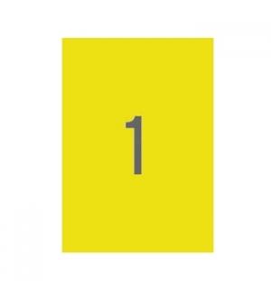 Etiquetas 210x297 Apli 100 Folhas A4 Amarelo
