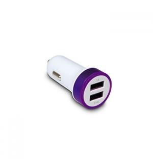 Carregador dual de isqueiro auto USB (5V 2,1Amp 10,5W) Lilas