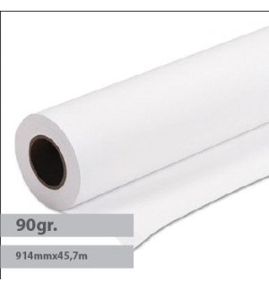 Papel Premium Coated 90gr 914mmx45,7mts Evolution -1Rolo