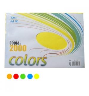 Papel Fotocopia A4 80gr Cores Intensas 5x20 Folhas