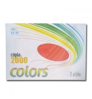 Papel Fotocopia A4 80gr Vermelho Forte  100 Folhas