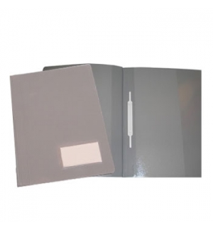 Classificador Plast.2000 Capa Opaca Cinza c/Ferragem Pack 10