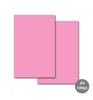 Cartolina A4 180gr 100 Folhas Sirio Rosa (7A)
