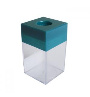 Porta Clips Verde Magnetico Quadrado 1un