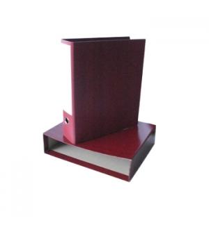 Pasta Arquivo Fibra Almaco Vermelha + Caixa 360x290 L80