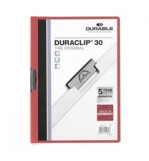 Classificador Clip Lateral Durable 2200 Bordeux - 1 un