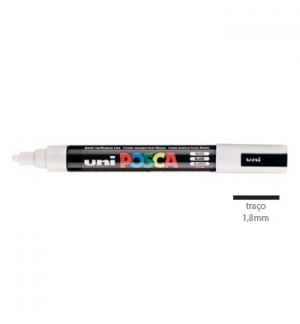 Marcador Uniball Posca PC5M 18mm Branco -1un