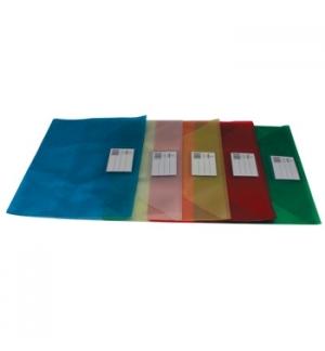 Envelope A4 Pvc Translucido com Visor - Vermelho