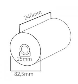 Rolo Papel 82,5x240x25-1un