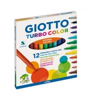 Marcador Feltro Giotto Turbo Color 12 Cores