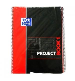 Caderno Espiral Oxford Project Capa Dura A4 Quadri Vermelho