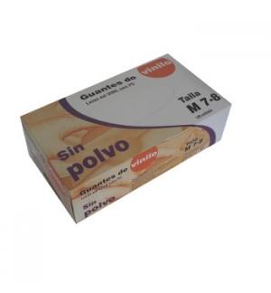Luvas Vinil s/Po Super Finas Tamanho (M) - (Pack 100un)