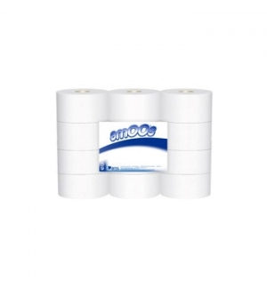 Papel Higienico (Jumbo) 250mts 2Fls Amoos 2Fls-12un