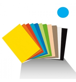 Cartolina 180gr 1 folha 50x65cm Azul Turquesa (5O)
