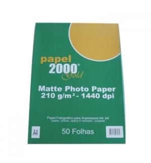Papel 210gr Fotografico Matte A4 p/ InkJet 50Fls