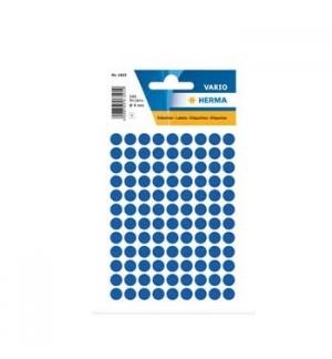 Etiquetas Redondas 08mm Azul Herma1833 540un