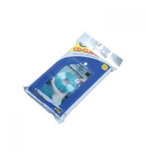 Lenço Limpeza CDs / DVDs Pack 25 Impregnados