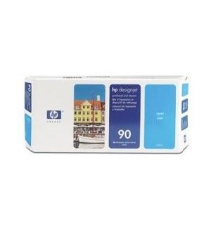 Cabeça Impressão + Kit Limpeza HP 90 Azul C5055A 400ml