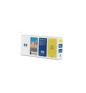 Cabeça Impressão + Kit Limpeza HP 90 Amarelo C5057A 400ml
