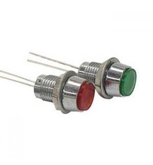 LED Painel Vermelho 2V, 8mm com Reflector Convexo